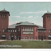 East Northfield MA Massachusetts Auditorium Postcard