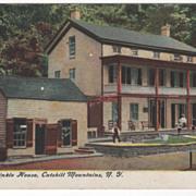 Rip Van Winkle House Catskill Mountains NY New York Vintage Postcard