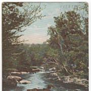 In the Berkshires MA Massachusetts Headwaters of the Hoosatonic Postcard