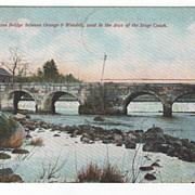 SOLD Old Stone Bridge between Orange and Wendell MA Massachusetts Vintage Postcard