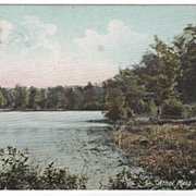 Athol MA Massachusetts Silver Lake Postcard