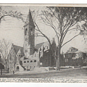 First Baptist Church Springfield MA Massachusetts Postcard
