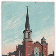 M E Church Torrington CT Connecticut Postcard