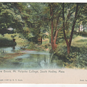 The Brook Mt Holyoke College South Hadley MA Massachusetts Postcard