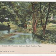 The Brook Mt Holyoke College South Hadley MA Massachusetts Postcard