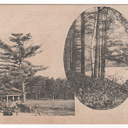 Entrance to Brookside Park Glimpse inside Park Athol MA Massachusetts Postcard