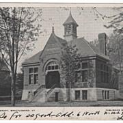 Brooks Library Brattleboro VT Vermont Vintage Postcard
