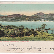 DPC Port Henry from Fort Frederick, Lake Champlain, NY New York Vintage Postcard