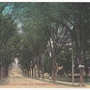 Central Street Looking West Winchendon MA Massachusetts Vintage Postcard