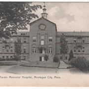 Farren Memorial Hospital Montague City MA Massachusetts Vintage Postcard