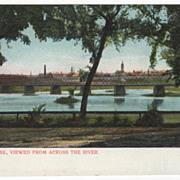 Holyoke MA Massachusetts Viewed Across River Vintage Postcard