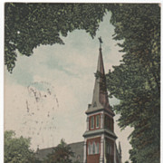 Greenfield MA Massachusetts Holy Trinity Catholic Church Vintage Postcard