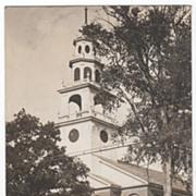 RPPC South Church Newport NH New Hampshire Vintage Postcard
