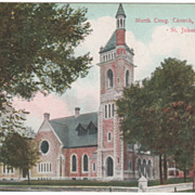 North Congregational Church St. Johnsbury VT Vermont Vintage Postcard