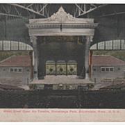 Great Steel Open Air Theatre Auburndale MA Massachusetts Vintage Postcard