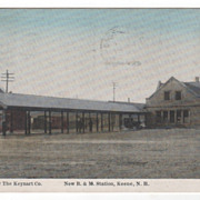 New B & M Station Keene NH New Hampshire Vintage Postcard