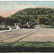 Waiting Room Mountain Park Holyoke MA Massachusetts Vintage Postcard