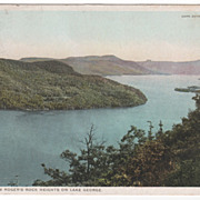 DPC South from Roger's Rock Heights on Lake George NY New York Vintage Postcard