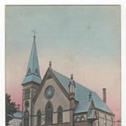 Methodist Church Orange MA Massachusetts Vintage Postcard