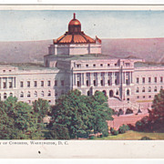Library of Congress Washington DC District of Columbia Vintage Postcard