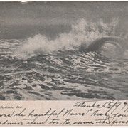 A September Sea Seascape Vintage Postcard