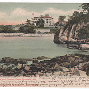 Shore and Casino Cape Elizabeth ME Maine Vintage Postcard