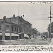 Main Street Looking North Farmington ME Maine Vintage Postcard