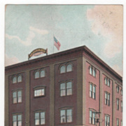 Briggs Block Brownville ME Maine Vintage Postcard