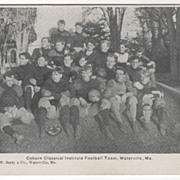 Coburn Classical Institute Football Team Waterville ME Maine Vintage Postcard