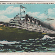Seenandbee - C & B Line between Buffalo NY New York and Cleveland OH Ohio Vintage Postcard