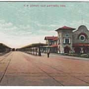 S P Depot San Antonio TX Texas Vintage Postcard