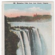 Horseshoe Falls from Goat Island Niagara Falls NY New York Vintage Postcard