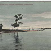 Biloxi MS Mississippi Point Comfort Looking toward Ocean Springs Vintage Postcard