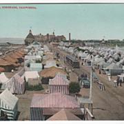 Tent City Coronado CA California Vintage Postcard