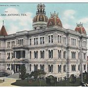 City Hall San Antonio TX Texas Vintage Postcard