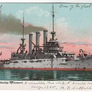 SOLD U S Battleship Missouri Vintage Postcard
