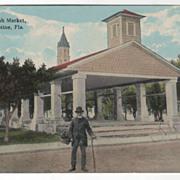 Old Spanish Market St Augustine FL Florida Vintage Postcard