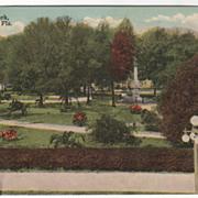 Munn Park Lakeland FL Florida Vintage Postcard