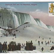 American Fall and Ice Mountain Niagara Falls Ont Ontario Vintage Postcard