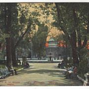 La Alemada (city park) in Mexico City Mexico Vintage Postcard
