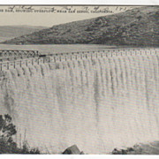 Sweetwater Dam Showing Overflow near San Diego CA California Vintage Postcard