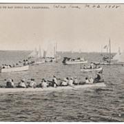 Yachting on San Diego CA California Bay Vintage Postcard