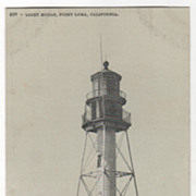 Light House Point Loma CA California Vintage Postcard