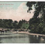 Kettle Creek St Thomas Ontario Canada Vintage Postcard