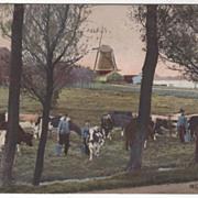 Monnikendam Netherlands Vintage Postcard