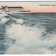 The Breakers Long Beach CA California Vintage Postcard