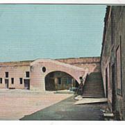 FL Florida Interior of Ft Marion St Augustine Vintage Postcard