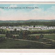 Bird's-Eye View of Fort Oglethorpe near Chattanooga TN Tennessee Vintage Postcard