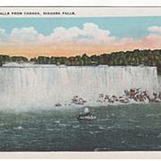 American Falls from Canada Niagara Falls NY New York Vintage Postcard