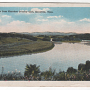 River View from Cherokee Country Club Knoxville TN Tennessee Vintage Postcard